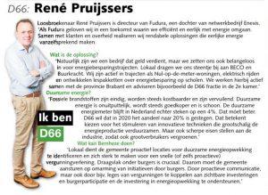 Ik ben D66! René Pruijssers uit Loosbroek