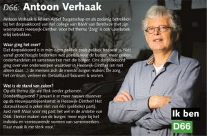 Ik ben D66! Antoon Verhaak uit Heeswijk-Dinther