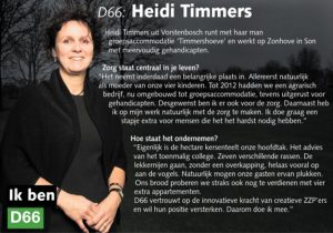 Ik ben D66! Heidi Timmers uit Vorstenbosch