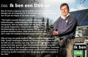 Ik ben D66! Ben de Groot uit Nistelrode: Ik ben een D66-er