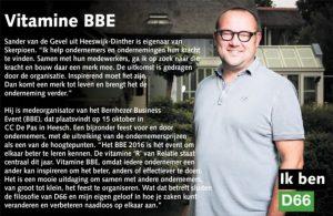 Ik ben D66! Sander van de Gevel uit Heeswijk-Dinther: Vitamine BBE