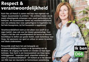 Ik ben D66! Karin Hes uit Heesch: Respect & verantwoordelijkheid