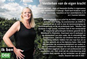 Ik ben D66! Heidi van Gaal uit Heeswijk-Dinther: Versterken van eigen kracht