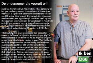 Ik ben D66! Marc van Hemert uit Nistelrode: De ondernemer die vooruit wil