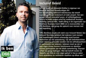 Ik ben D66! Wilson Bosch uit Heeswijk-Dinther: Inclusief Beleid