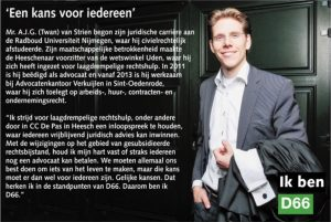 Ik ben D66! Twan van Strien uit Heesch: Een kans voor iedereen