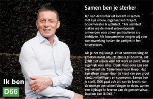 Ik ben D66! Jan van den Braak uit Heesch: Samen ben je sterker