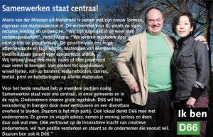 Ik ben D66! Mario van der Miessen uit Nistelrode: Samenwerken staat centraal