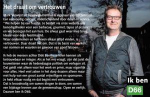 Ik ben D66! Mark Verwijst uit Heeswijk-Dinther: Het draait om vertrouwen
