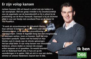 Ik ben D66! Jochem Goossen uit Heesch: Er zijn volop kansen