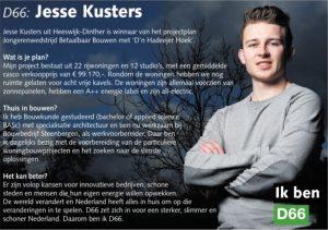 Ik ben D66! Jesse Kusters uit Heeswijk-Dinther