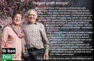 Ik ben D66! Gerard & Corrie Spierings uit Heesch: Helpen geeft energie