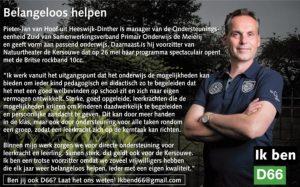 Ik ben D66! Pieter-Jan van Hoof uit Heeswijk-Dinther: Belangeloos helpen