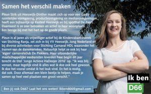 Ik ben D66! Pleun Strik uit Heeswijk-Dinther: Samen het verschil maken
