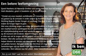Ik ben D66! Sjanet Heerkens uit Heeswijk-Dinther: Een betere leefomgeving