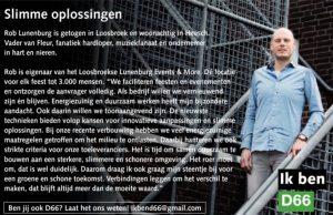 Ik ben D66! Rob Lunenburg uit Heesch: Slimme oplossingen