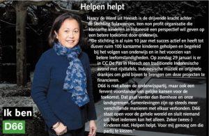 Ik ben D66! Nancy de Werd uit Heesch: Helpen helpt