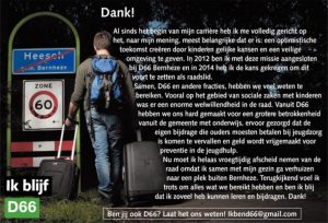 Ik blijf D66! Erik van Santvoort: Dank!