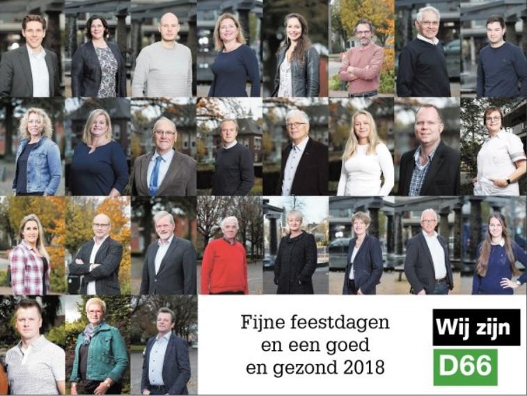 Wij zijn D66! Fijne feestdagen en een goed en gezond 2018!