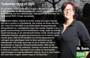 Ik ben D66! Eli van Beekveld uit Loosbroek: Iedereen mag er zijn