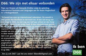 Ik ben D66! Pepe van Herpen uit Heeswijk-Dinther: We zijn met elkaar verbonden