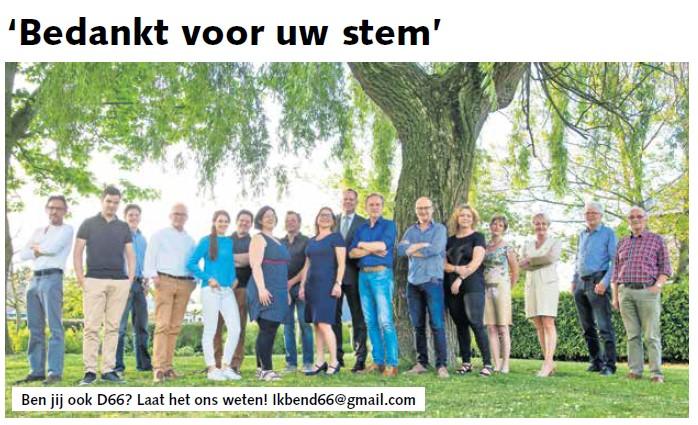 Ik ben D66! Bedankt voor uw stem!