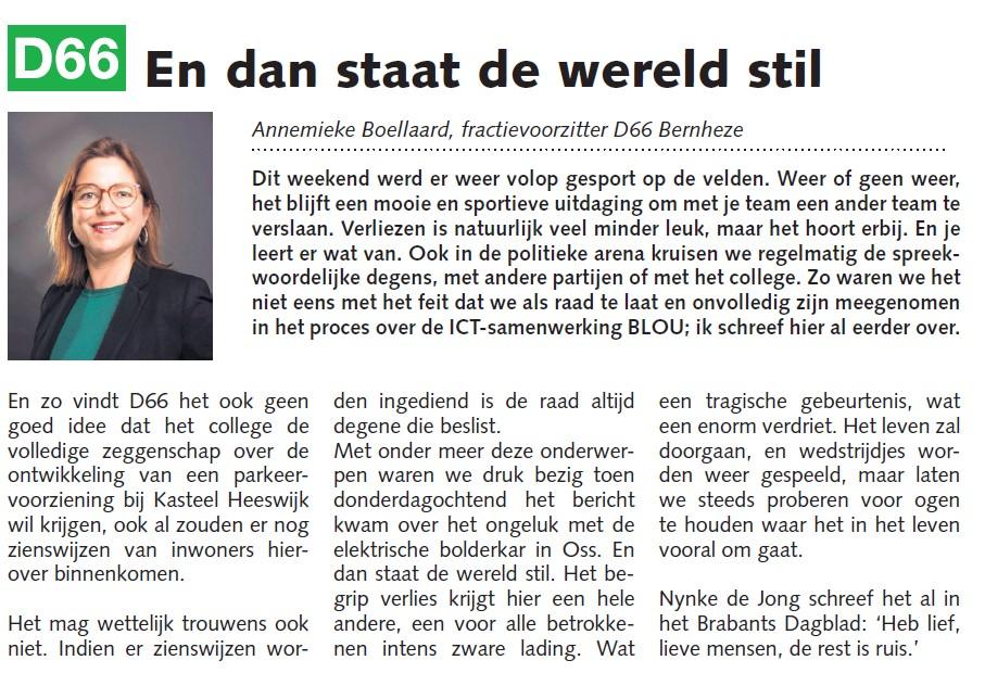 Annemieke Boellaard: En dan staat de wereld stil
