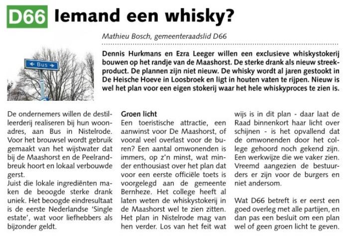 Mathieu Bosch: Iemand een whisky?