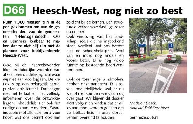 Mathieu Bosch: Heesch-West, nog niet zo best