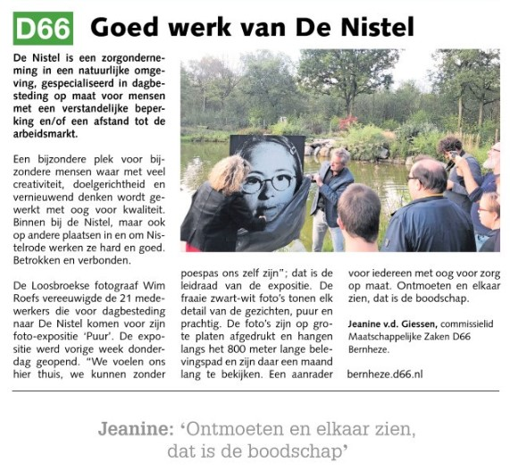 Jeanine van der Giessen: Goed werk van De Nistel