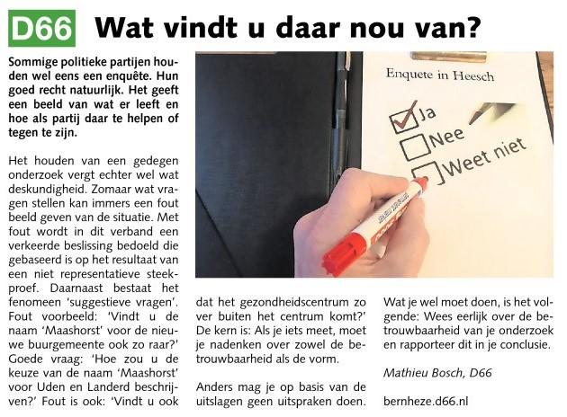 Mathieu Bosch, raadslid: Wat vindt u daar nou van?