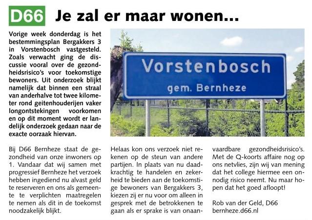 Rob van der Geld, commissie Ruimtelijke Zaken: Je zal er maar wonen...