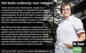Ik ben D66! Het beste onderwijs voor iedereen
