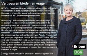 Ik ben D66! Pascale van Heugten uit Heesch: Vertrouwen bieden en vragen