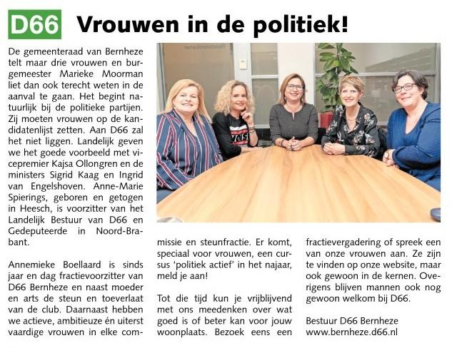 Vrouwen in de politiek!